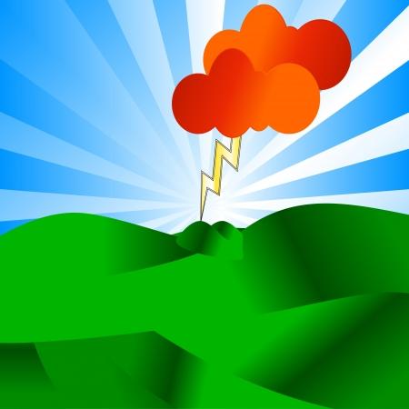 lightening: El concepto �nico de un rayo golpeando el suelo