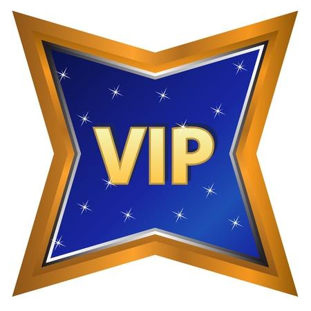 vip symbol: S�mbolo �nico vip en un fondo blanco Vectores