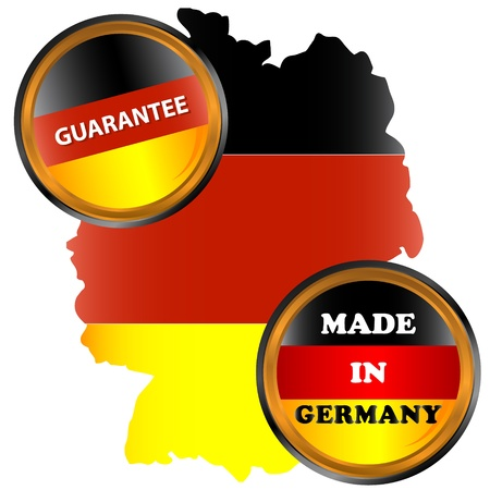 Made in germany icon on a white background Stock Vector - 17897269