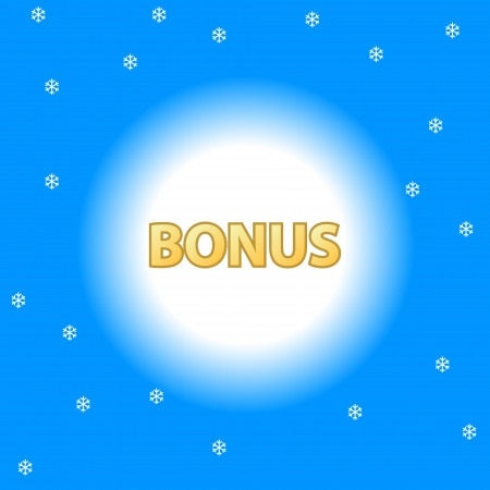 Unique plate a bonus on a blue background Stock Vector - 17897277