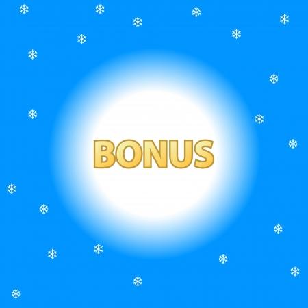 Unique plate a bonus on a blue background Stock Vector - 17897277
