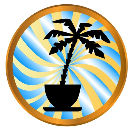 Palm tree icon on a white background Vector