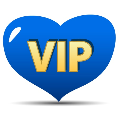 Unique vip heartl on a white background Stock Vector - 18016729