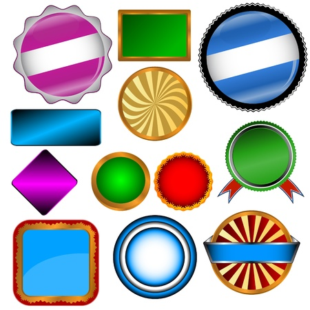 Set of the various forms on a white background Vector