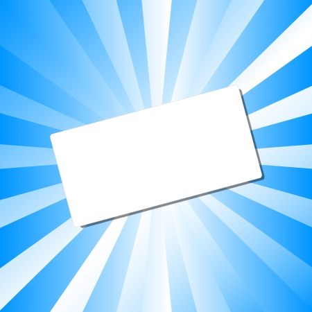 dodger: White card on an abstract background.  Illustration