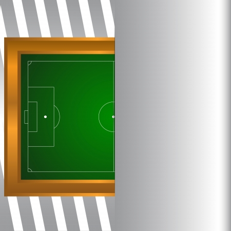 touchline: Football field on a unique background. illustration