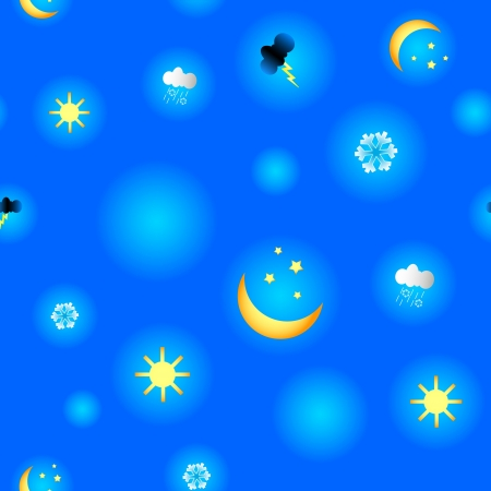 New interesting pattern with weather. Vector illustration Stock Vector - 18515147