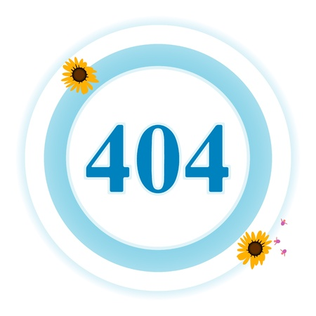 404 error icon on a white background Vector