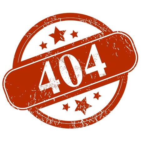 permit: Grunge 404 error on a white background