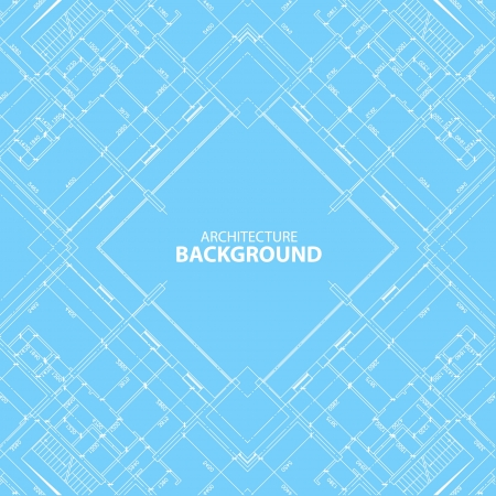 Interesting architectural background in unique style. Vector illustration Vector