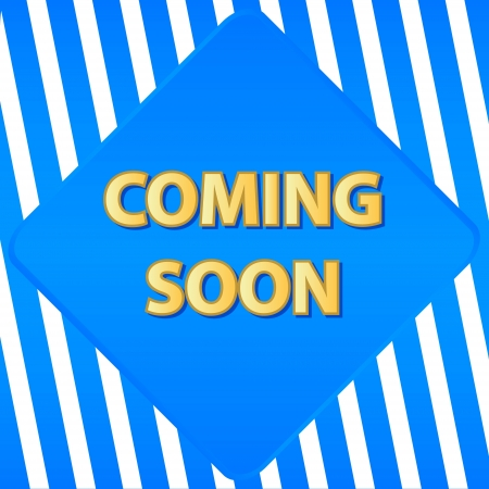 Coming soon banner on an abstract background Vector