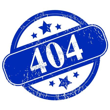 Grunge 404 error on a white background Stock Vector - 19086103