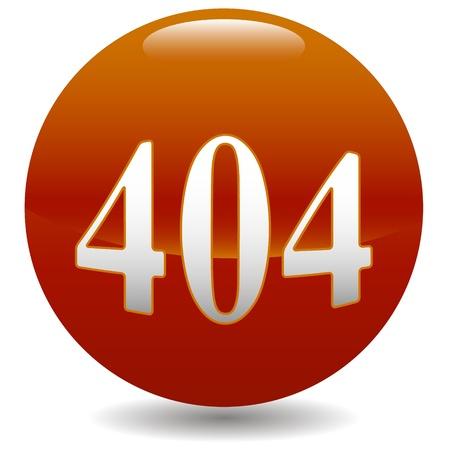 404 error icon on a white background Stock Vector - 19085783