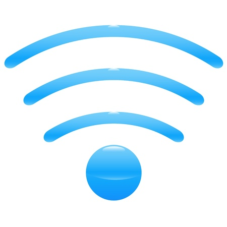 High resolution icon of wifi wireless spot Vector