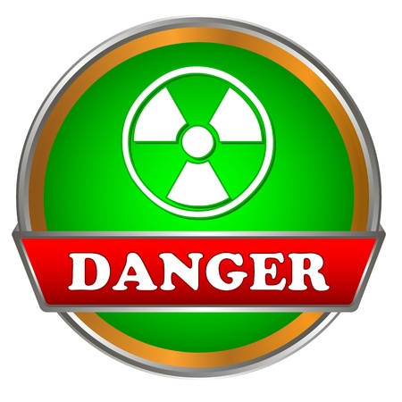 Green danger logo on a white background Vector