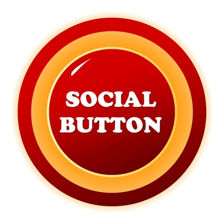 extensible: Social red button on a white background