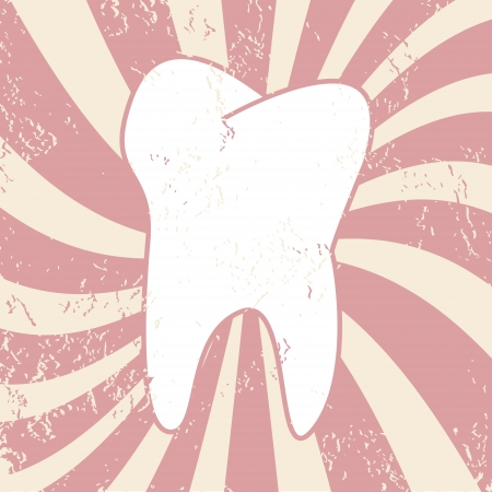 Tooth in a grunge style on a unique background Stock Vector - 19244740