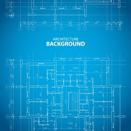 planlama: Benzersiz tarzı ilginç mimari arka plan. Vector illustration