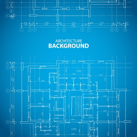 Interesting architectural background in unique style. Vector illustration
