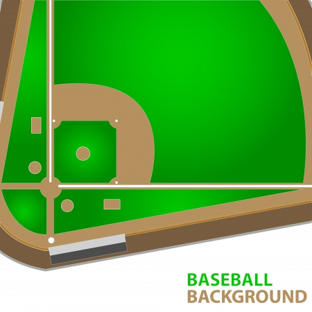 outfield: Unique baseball background with a place for the text Illustration