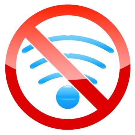 No wifi logo on a white background