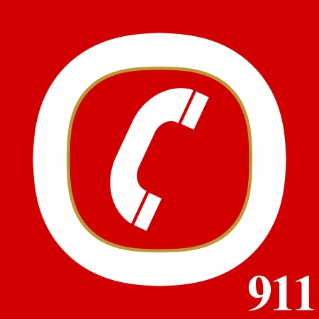 911 emergency logo in a unique style Vector