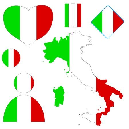 Large Italian logo set against a white background Stock Vector - 19384940