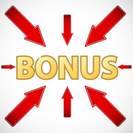 flysheet: New bonus icon located on a white background Illustration