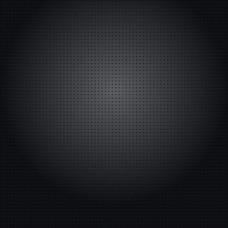 The unique metallic background with different holes. Vector illustration Stock Illustratie