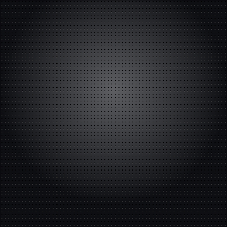 The unique metallic background with different holes. Vector illustration Vettoriali