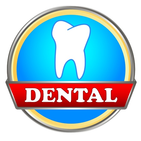 New dental icon on a white background Stock Vector - 19828616