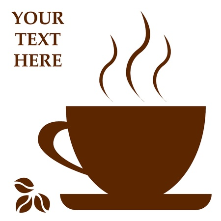 Coffee cup with space for text  Vector illustration Çizim