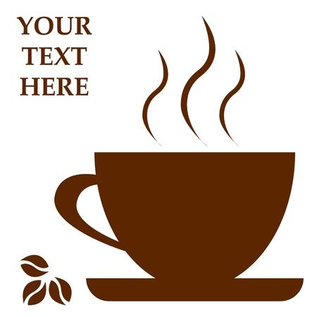 coffee beans: Koffiekopje met ruimte voor tekst Vector illustratie