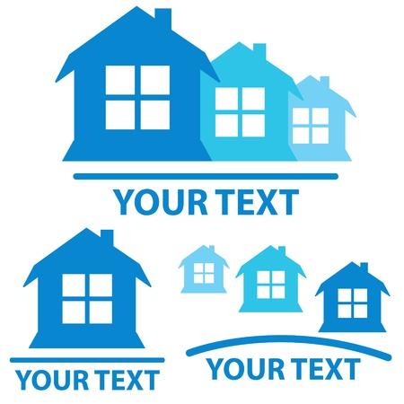 Drei Immobilien-Zeichen auf einem weißen Hintergrund Standard-Bild - 19828694