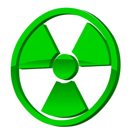 Radioactive 3d icon on a white background  Vector illustration Vector