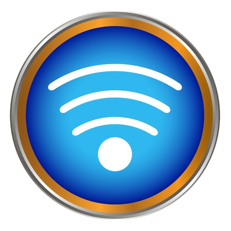 New wifi button on a white background Vector