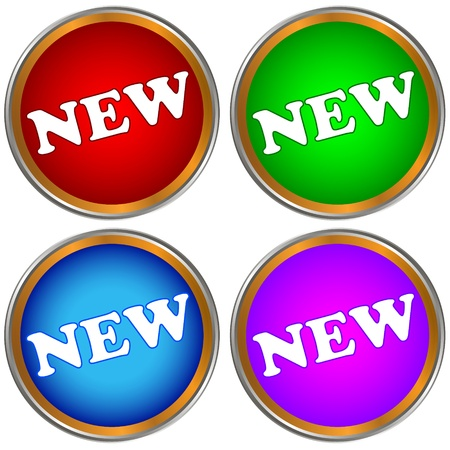 New buttons set on a white background Stock Vector - 20173451