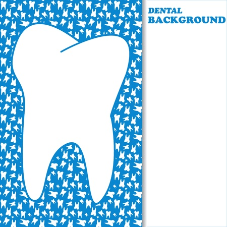 New dental background with space for text Vector