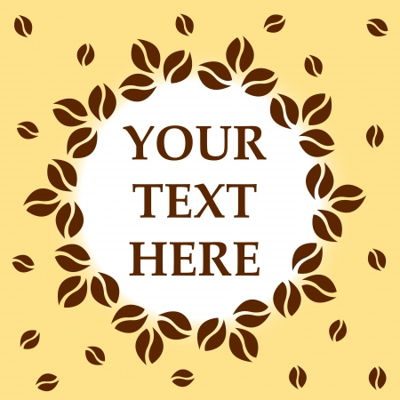 New coffee background with space for text Stock Vector - 20338573