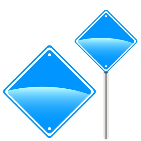 Two blue road signs for your design Vector