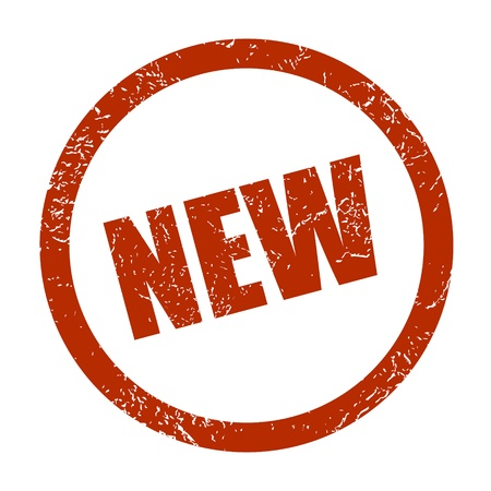 streaked: New red grunge rubber stamp  Vector illustration  Illustration