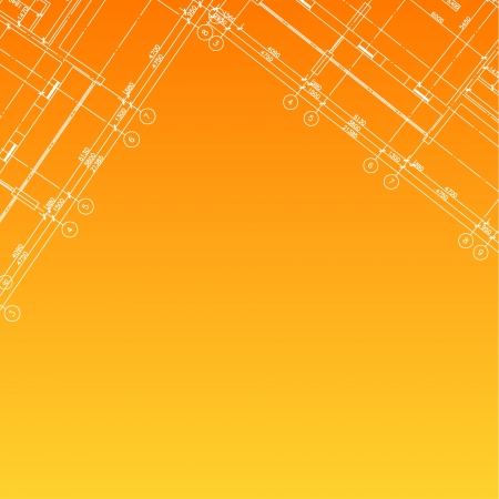 New Architectural Orange Background  Vector illustration for design