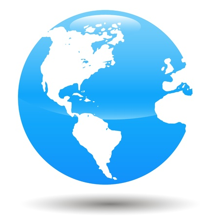 globus: New 3d Globe On A White Background Illustration