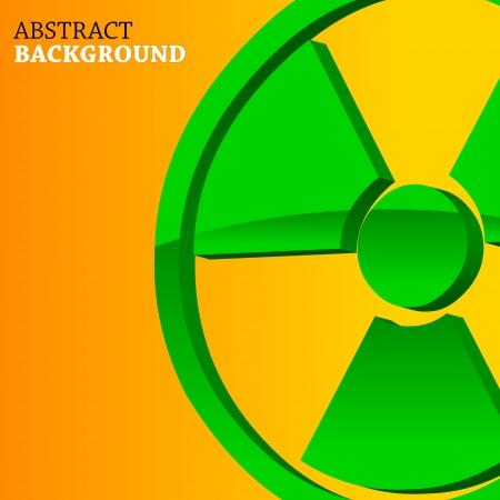 nuclear symbol: Resumen de fondo con un s?olo nuclear en un estilo ?o Vectores