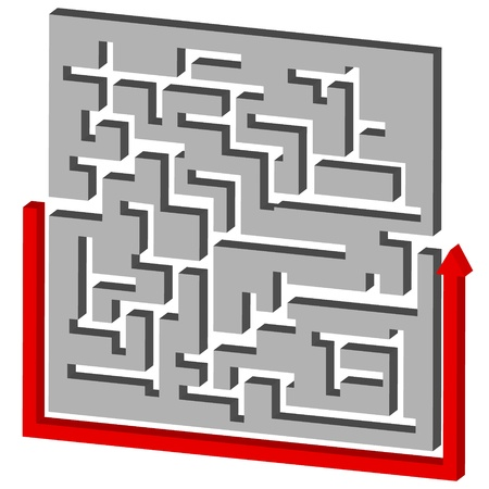 Maze Puzzle Solution in a unique style Vector