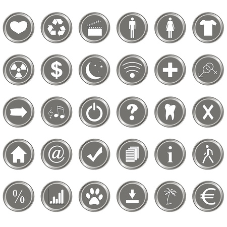 Big icons set on a white background Stock Vector - 20849977