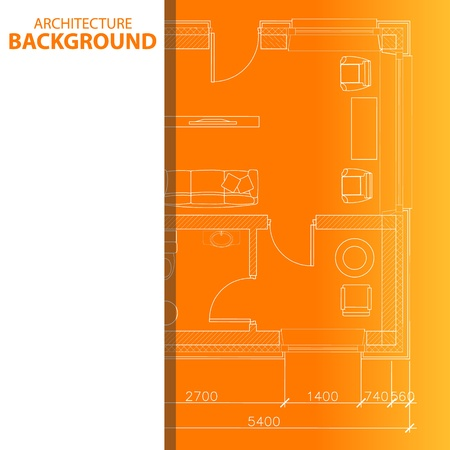 Best interesting architectural background in unique style. Vector illustration