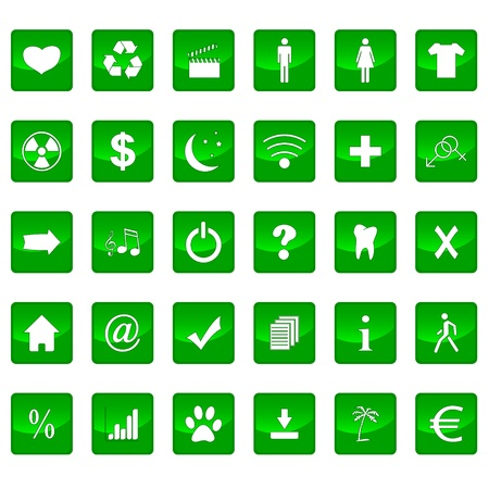 Big icons set on a white background Stock Vector - 21634740
