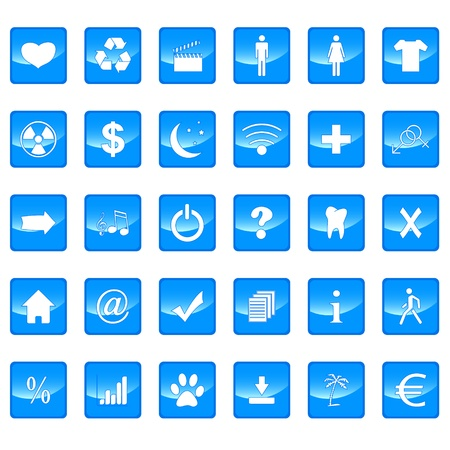 Big icons set on a white background Stock Vector - 21634752