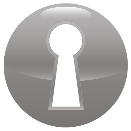 Keyhole gray icon on a white background Stock Vector - 21634875